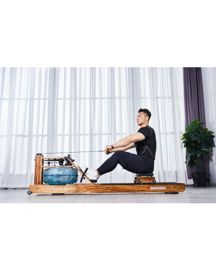 MBH-FITNESS RM03 WATER ROWER [EBONY WOOD][PRE-ORDER]