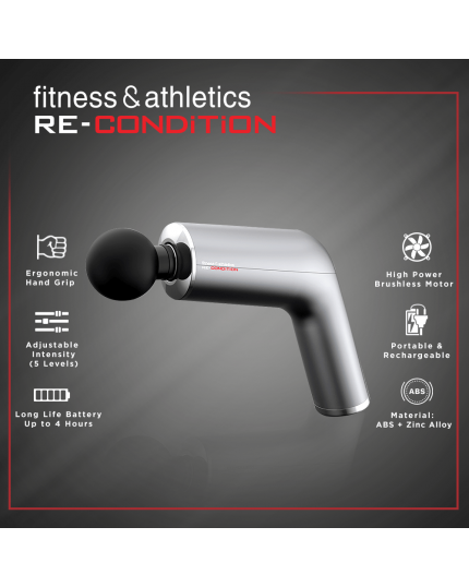 FITNESS & ATHLETICS MASSAGE GUN [PEARL WHITE]