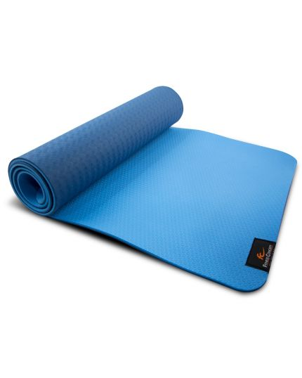 FC 8MM TPE YOGA MAT WITH MESH BAG - BLUE