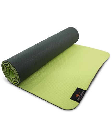 FC 8MM TPE YOGA MAT WITH MESH BAG - GREEN