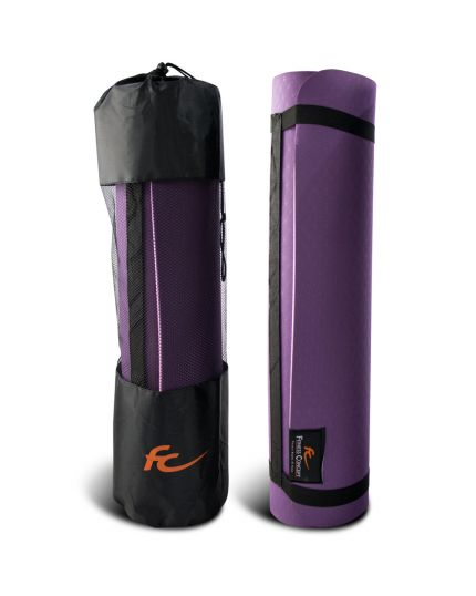 FC 8MM TPE YOGA MAT WITH MESH BAG - PINK