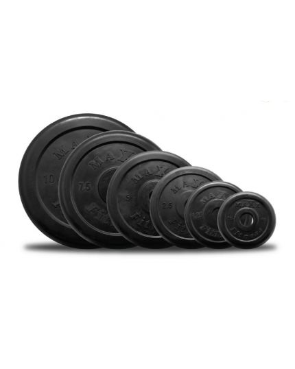 Black Rubberized Plate 10kg